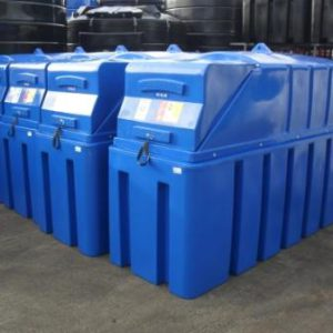 Several 1350 litre AdBlue storage tanks