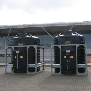 30000 litre Bunded De-Icer Storage Tanks
