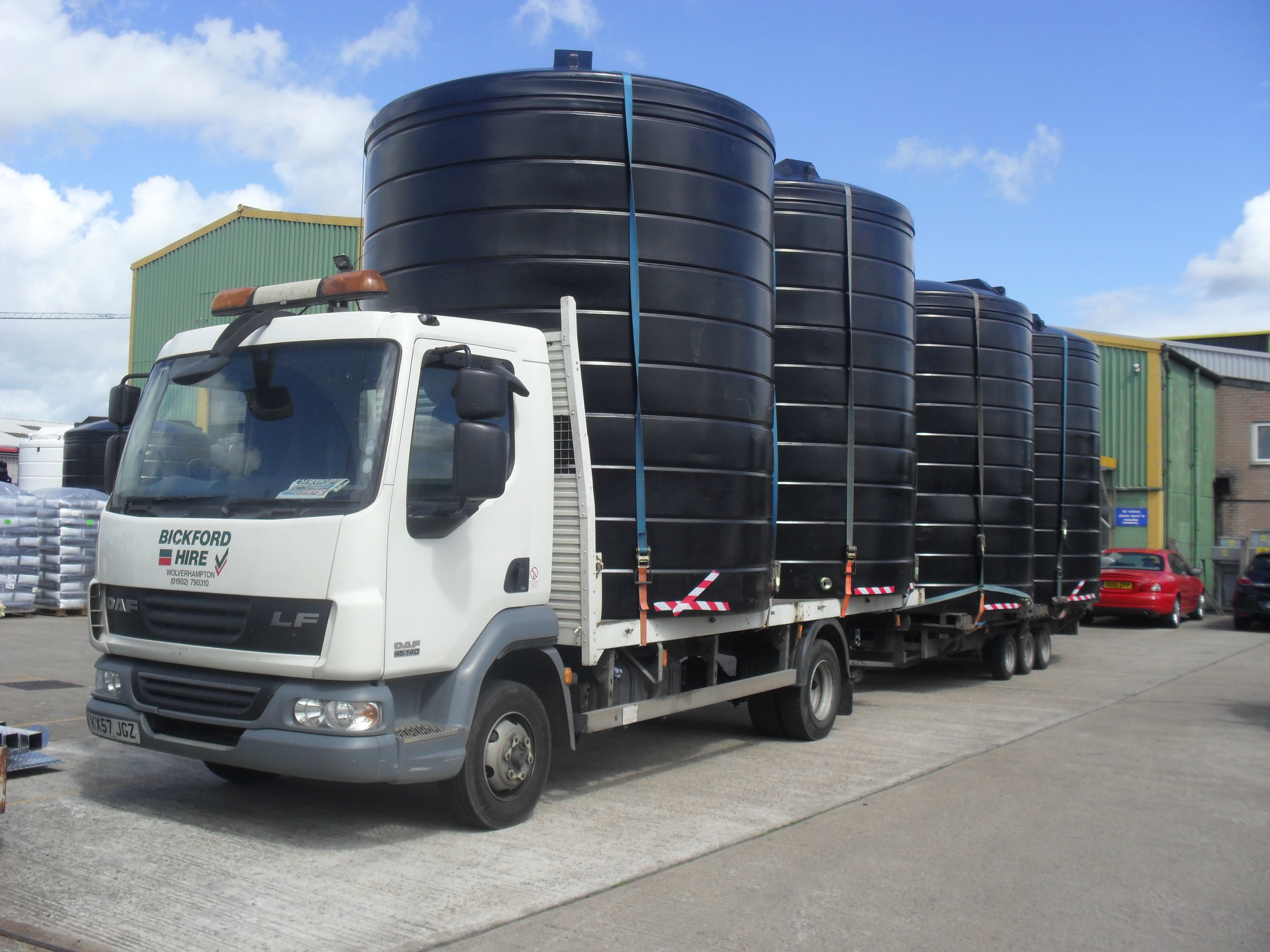 Four 20000 litre water storage tanks for Agriculutural Use