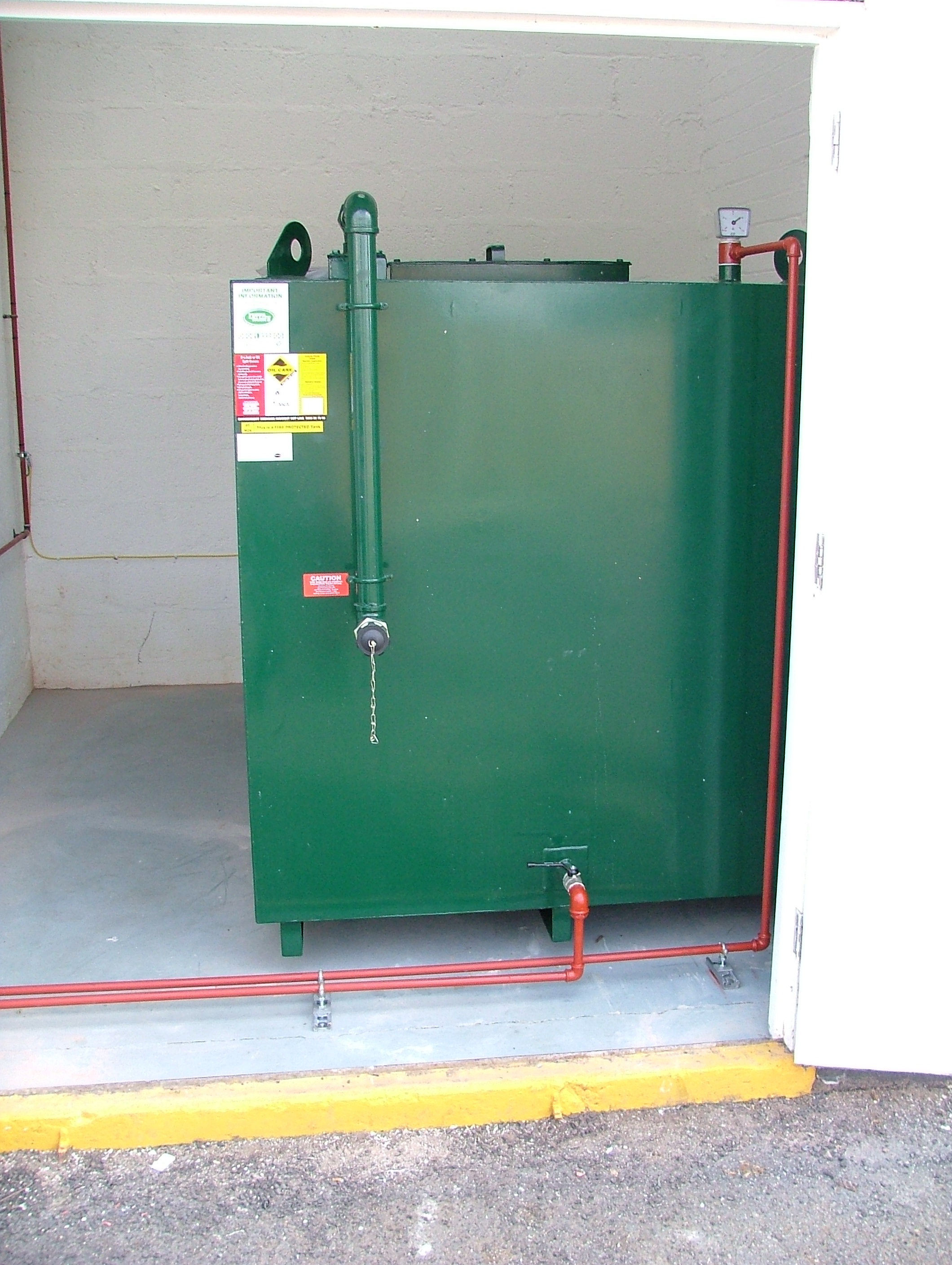 Steel Fire Protected Oil Tank