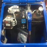 1350SLBFS AdBlue Tank with heating, insulation and hand pump