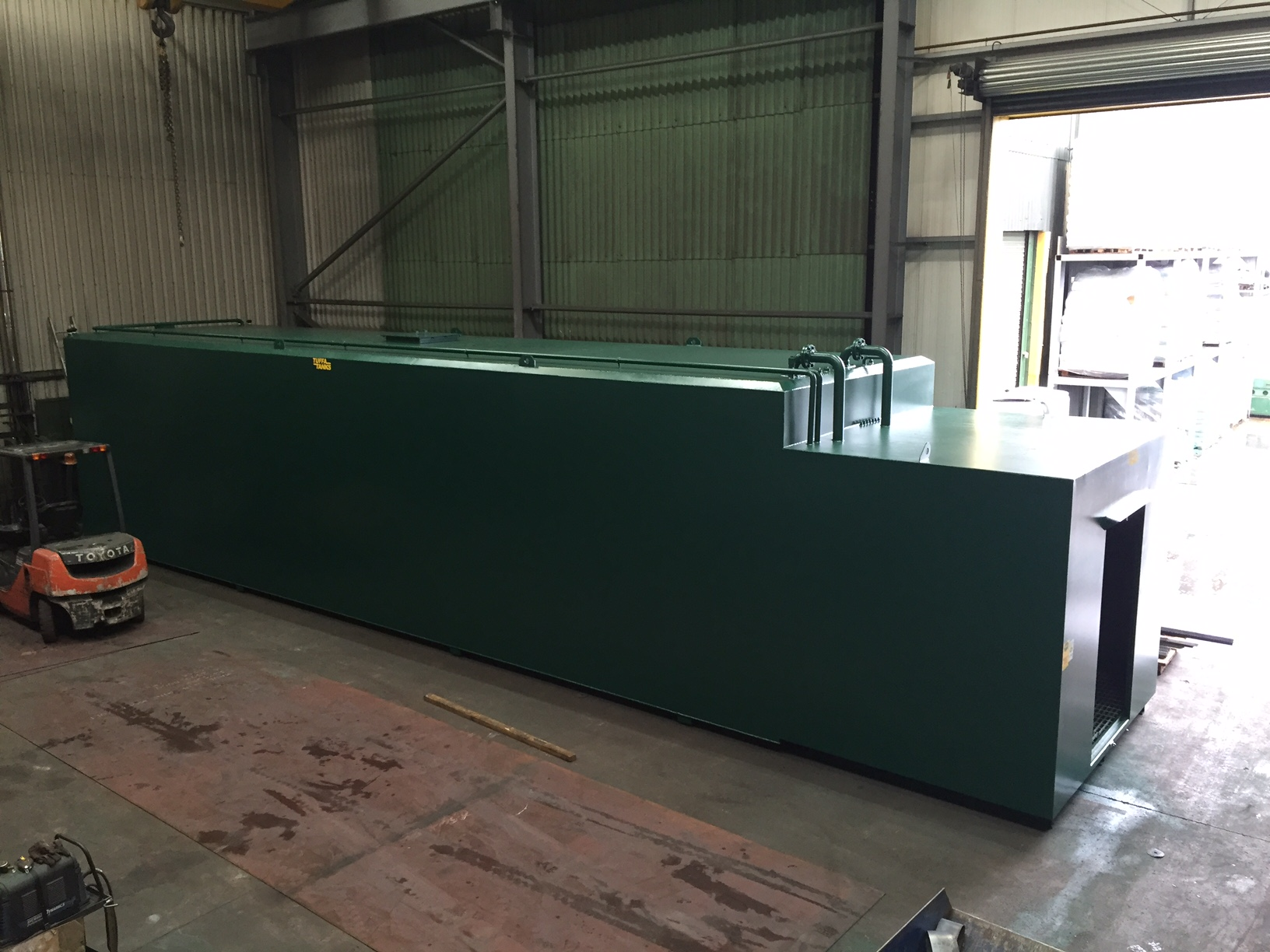 100000SBFS STEEL BUNDED DIESEL TANK FOR ENVIRONMENT AGENCY