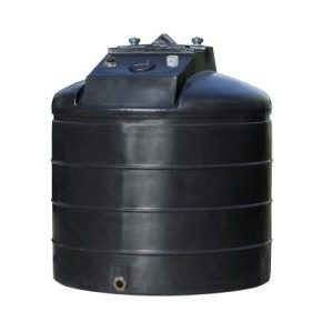 Tuffa 2500 litre cylindrical single skin heating oil tank