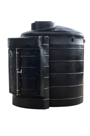 3500VBFP Tuffa 3500 litre bunded fire protected heating oil tank