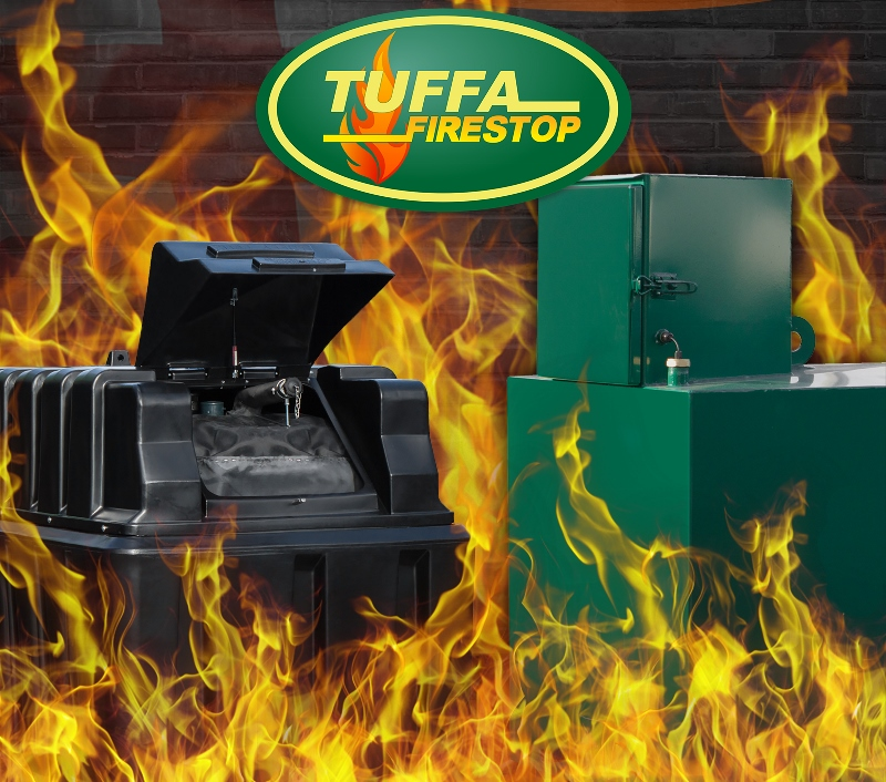 Tuffa plastic and steel fire protected oil tanks