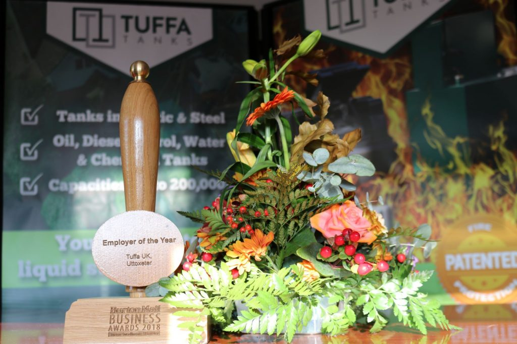 The Employer of the Year Award in the Tuffa boardroom