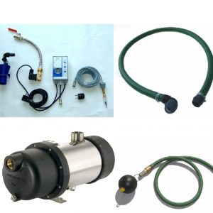Rainwater pump kit with mains water top up