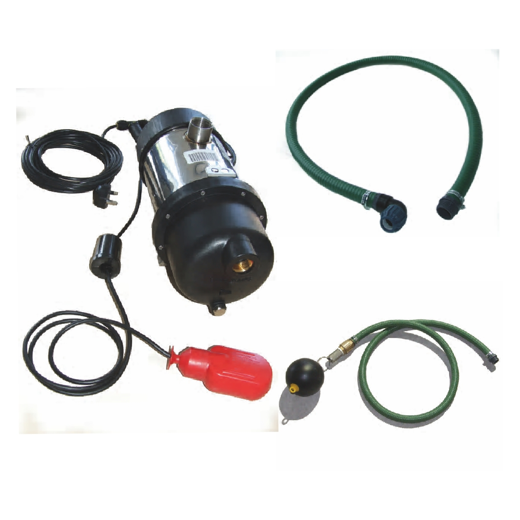 Rainwater pump kit with float switch